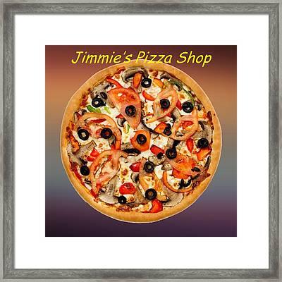 Pizza Pie Customized  Framed Print