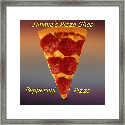 Pizza Slice Customized  Framed Print
