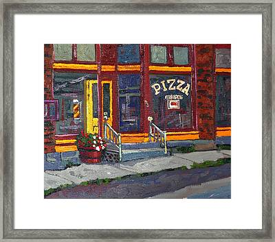 Pizza To Go Gone Framed Print by Phil Chadwick