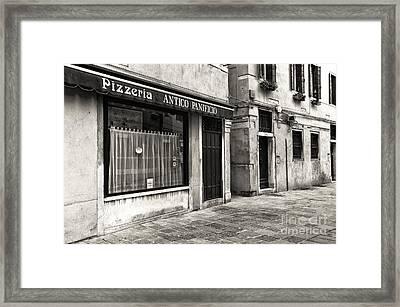 Pizzeria Antico Panicio Framed Print by John Rizzuto