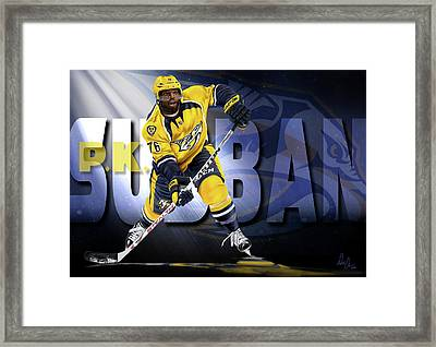 Pk Subban Framed Print by Don Olea