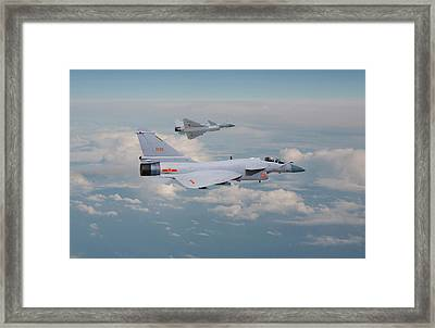 Framed Print featuring the photograph Plaaf J10 - Vigorous Dragon by Pat Speirs
