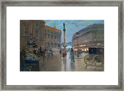 Place De L Opera In Paris Framed Print