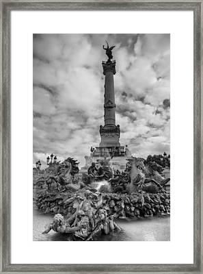 Place Des Quinconces Framed Print