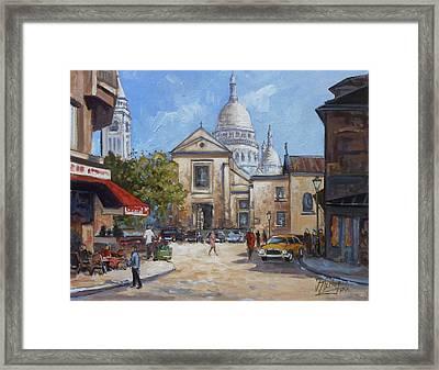 Place Du Tertre, Montmartre Framed Print