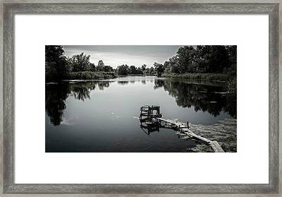 Place For Reflection. Korop, 2016. Framed Print