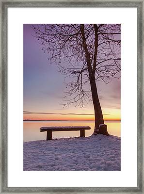 Framed Print featuring the photograph Place For Two by Davor Zerjav