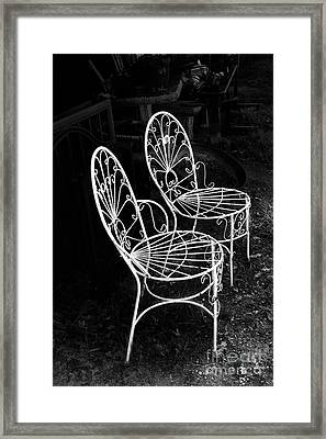Framed Print featuring the photograph Place For Two by Elena Nosyreva