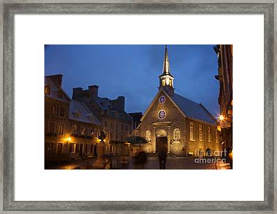Place Royale And Notre-dame-des-victoires Church Framed Print by Hideaki Sakurai