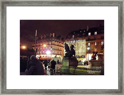 Framed Print featuring the photograph Place Saint-michel by Felipe Adan Lerma