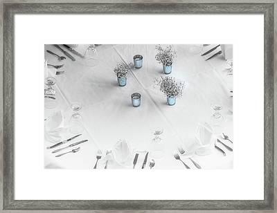 Place Settings Framed Print
