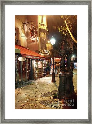 Place St Michel To Rue Saint-andre Des Arts Framed Print by Felipe Adan Lerma