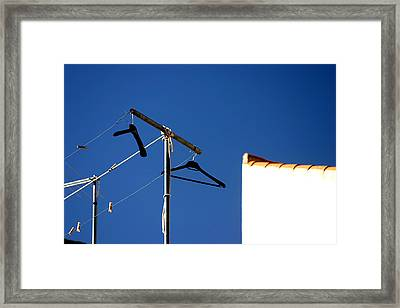 Place To Dry Framed Print