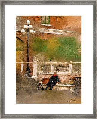 Framed Print featuring the digital art Place To Rest. by Dale Stillman