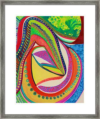 Framed Print featuring the painting Placebo by Polly Castor