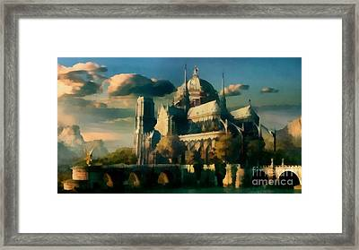 Places Angels Dwell Painted In Bleak Framed Print