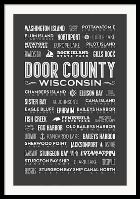 Eagle Bluff Lighthouse Framed Prints