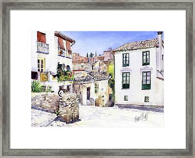 Placeta Nevot Albaicin Granada Framed Print by Margaret Merry