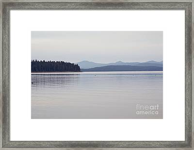 Placid Mountain Lake Framed Print