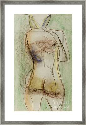 Framed Print featuring the drawing Placid by Paul McKey