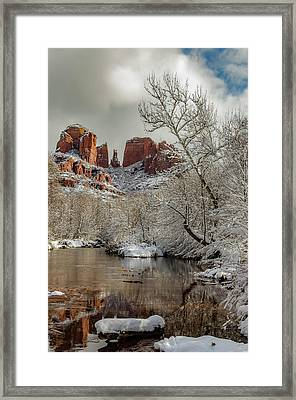 Placid Winter Oasis Framed Print by Brian Oakley Photography