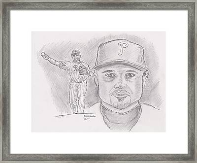 Placido Polanco Polly Framed Print