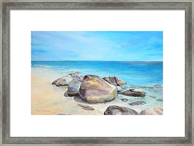 Plage Framed Print by Muriel Dolemieux
