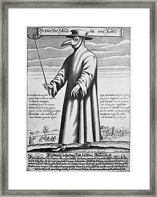 Plague Doctor, 17th Century Artwork Framed Print