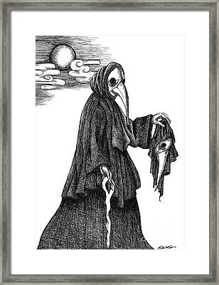 Plague Doctor Framed Print