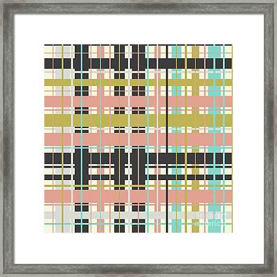 Plaid Pattern Framed Print
