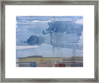 Plain Rain Framed Print by Vaughan Davies