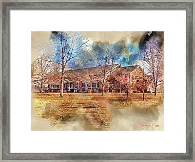 Plainfield Friends Meeting - A Quaker Church Framed Print