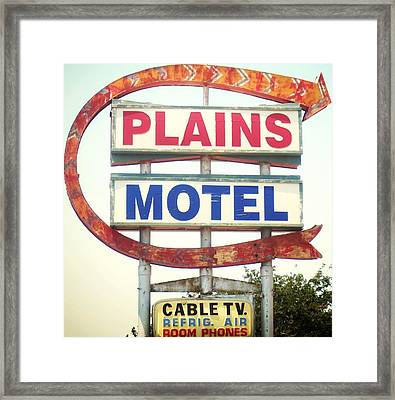 Plains Motel Framed Print