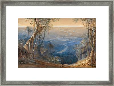 Plains Of Bengal From Above Siligoree Framed Print