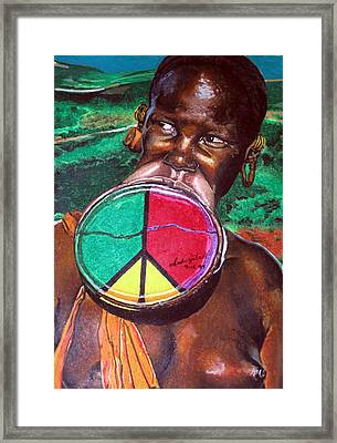 Plains Of Peace Framed Print by Andre Ajibade