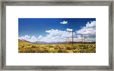 Plains Of The Sierras Framed Print