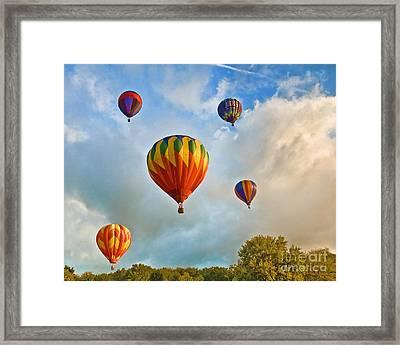 Plainville Balloons 2 Framed Print