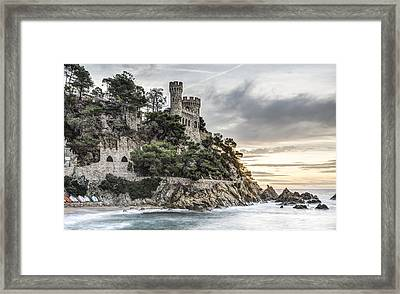 Plaja Castle, Lloret De Mar Framed Print by Marc Garrido