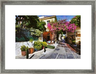 Plaka In Athens Framed Print by George Atsametakis