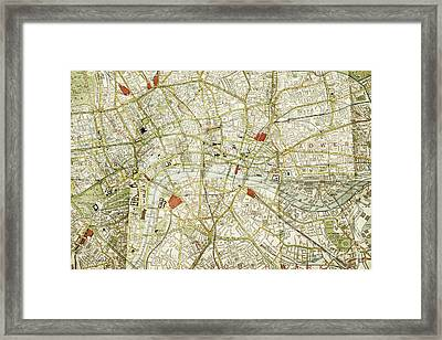 Framed Print featuring the photograph Plan Of Central London by Patricia Hofmeester