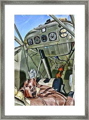 Plane-aeronca L-3 Grasshopper Cockpit Framed Print
