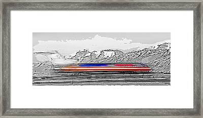 Plane At Airport 1 - Signed Limited Edition Framed Print
