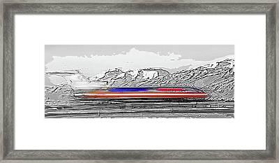 Plane At Airport 1 Framed Print by Steve Ohlsen