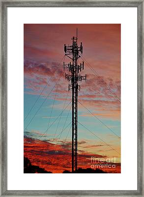 Plane Communication Framed Print