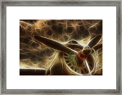 Plane Golden Fire Framed Print by Paul Ward
