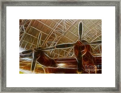 Plane In The Hanger Framed Print by Paul Ward