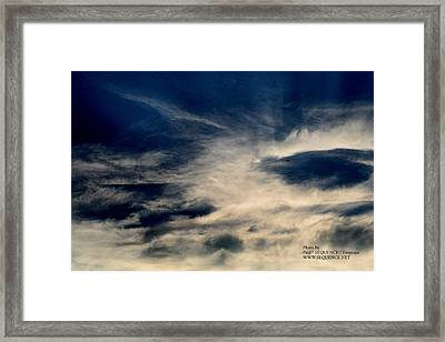 Plane In The Sky Framed Print