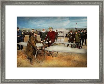 Plane - Odd - Easy As Riding A Bike 1912 Framed Print by Mike Savad