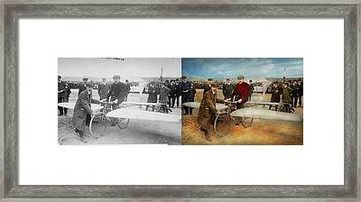Plane - Odd - Easy As Riding A Bike 1912 - Side By Side Framed Print by Mike Savad