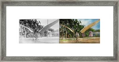 Plane - Odd - The Early Bird 1910 - Side By Side Framed Print by Mike Savad